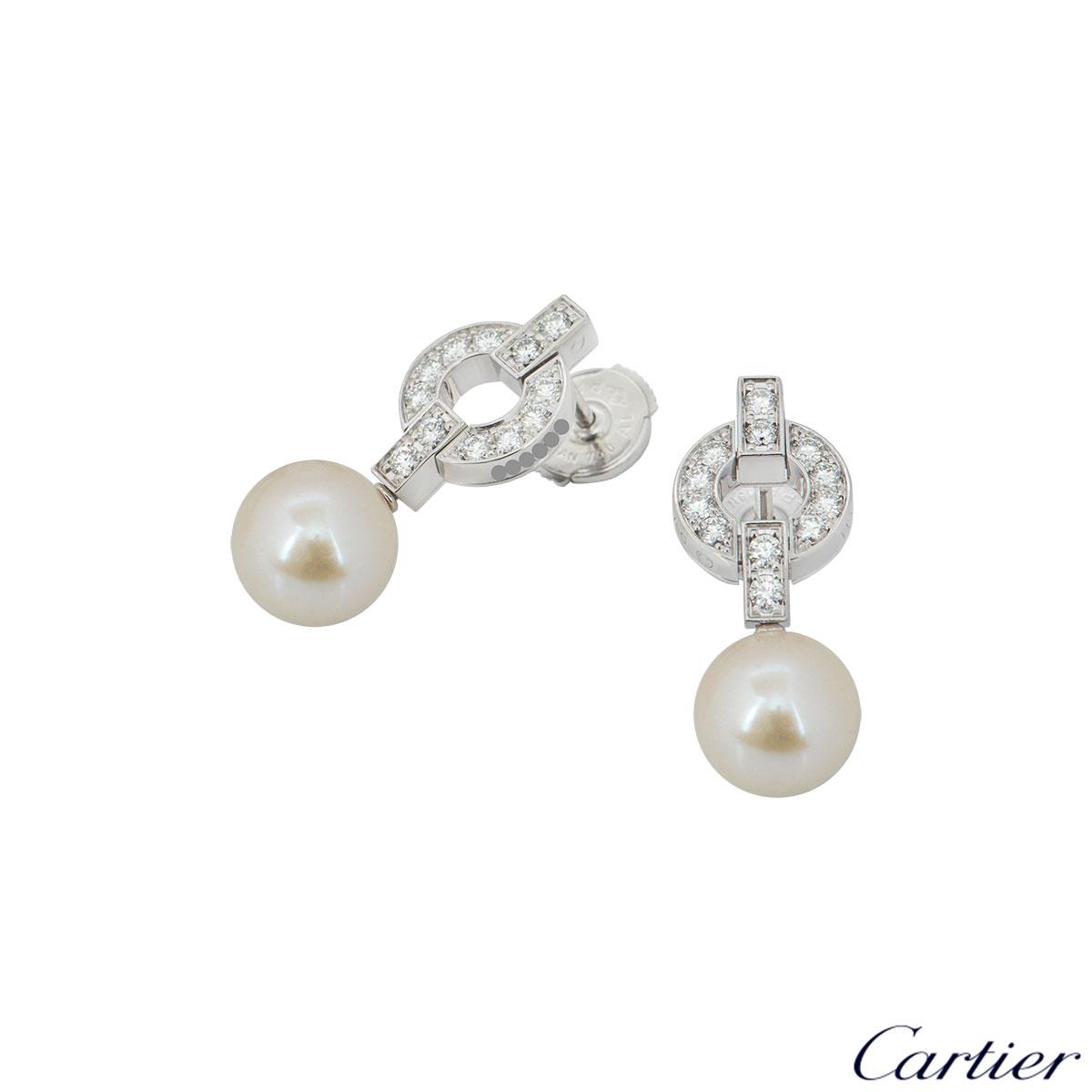 Cartier Himalia Diamond & Pearl Earrings B8039600